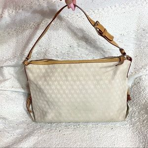 Dooney & Bourke beige monogram shoulder purse